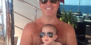 """Simon Cowell With Baby Son Eric, """"Just Like Twins"""""""